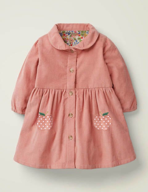 Cord Shirt Dress - Chalky Pink