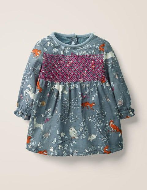 Nostalgic Smocked Dress - Enchanted Wood Blue