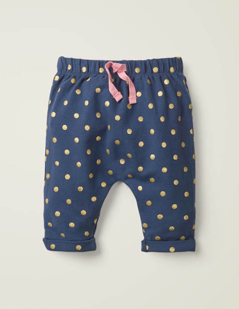 Cosy Sparkle Jersey Trousers - Starboard Blue Glitter Spot