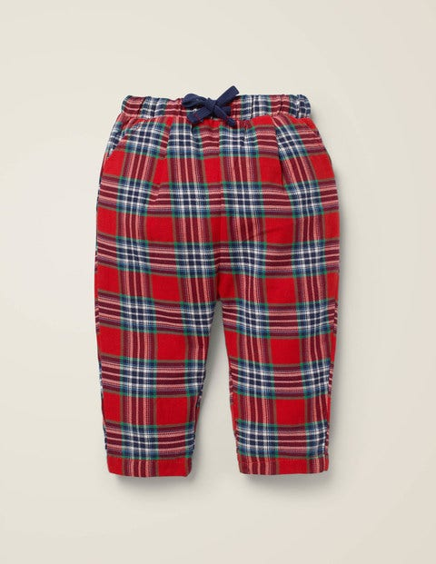 Brushed Check Trouser - Rockabilly Red/College Blue