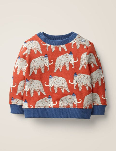 Cosy Sweatshirt - Spark Red Woolly Mammoth