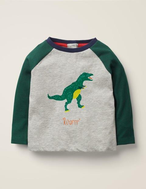 Printed Dinosaur T-Shirt - Grey Marl T-Rex