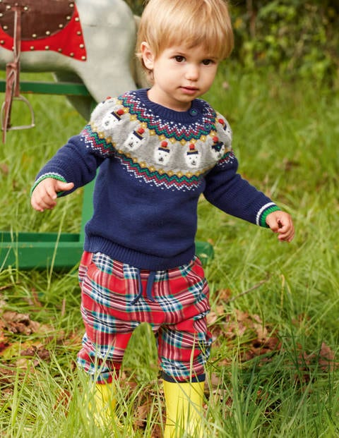 Fair Isle Jumper - Starboard Blue Polar Bears