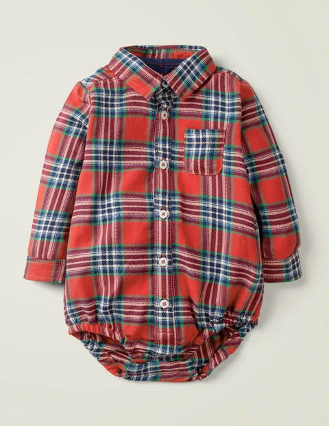 Brushed Check Body - Rockabilly Red/College Blue