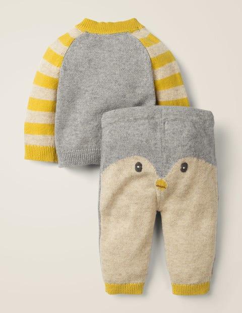 Novelty Knitted Play Set - Grey Marl Penguin