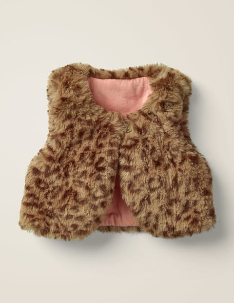 Cosy Vest - Soft Truffle Brown Leopard