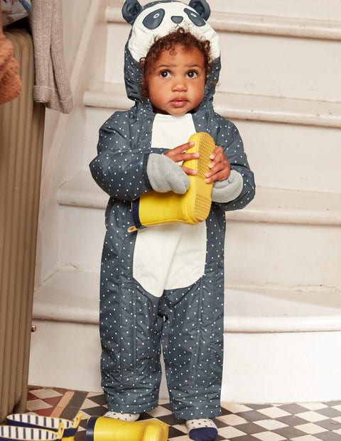 Waterproof Novelty Snowsuit - Constellation Grey Panda