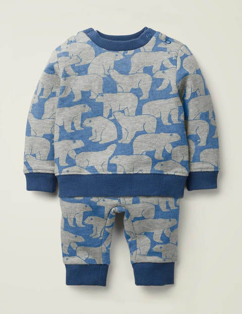 Cosy Sweatshirt Set - Grey Marl Baby Polar Bears