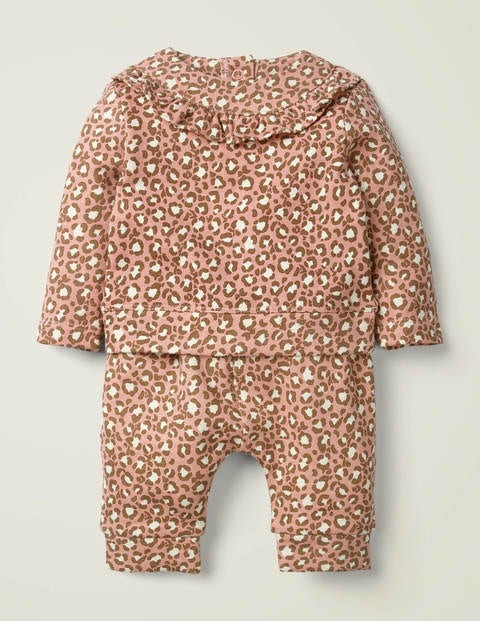 Cosy Jersey Set - Chalky Pink Mini Leopard