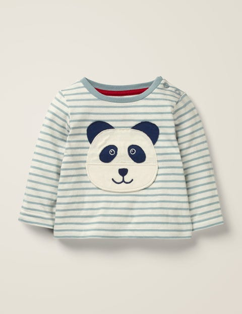Novelty Panda T-Shirt - Cloudburst Blue Panda