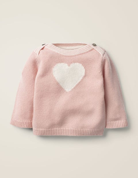 Cashmere Heart Sweater - Chalky Pink Heart