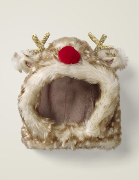 Cosy Festive Hat - Hedgehog Brown