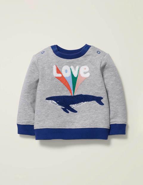 Bequemes Sweatshirt mit Schriftzug