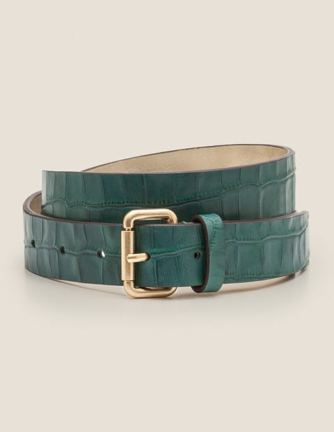 Classic Buckle Belt - Woodland Green Croc