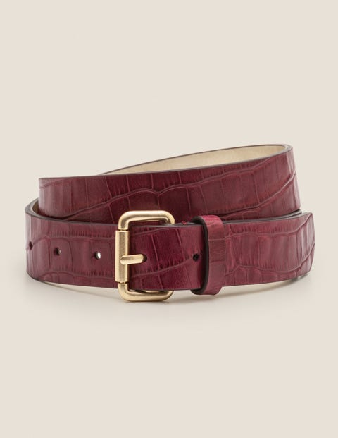 Classic Buckle Belt - Ruby Ring Croc