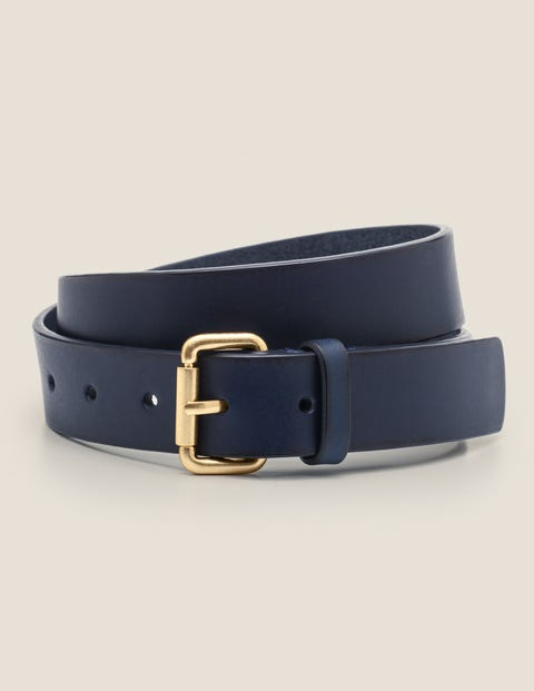 Classic Buckle Belt - Navy
