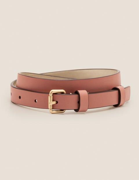 Skinny Buckle Belt - Dusky Rose