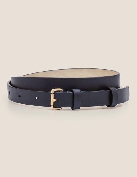 Skinny Buckle Belt - Navy