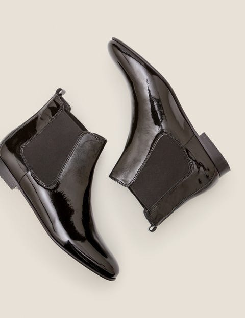 Leaton Chelsea Boots - Black Patent