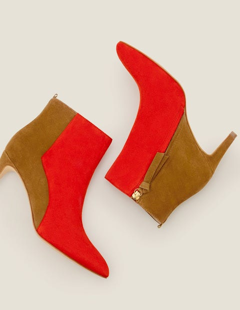 Bracknell Ankle Boots - Post Box Red/Gingerbread