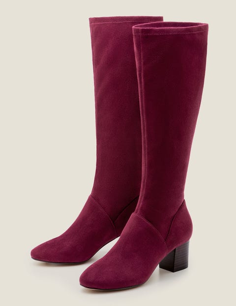 Round Toe Stretch Boots - Ruby Ring