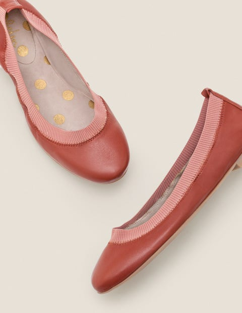 Hettie Ballerinas   Conker/Dusky Rose by Boden