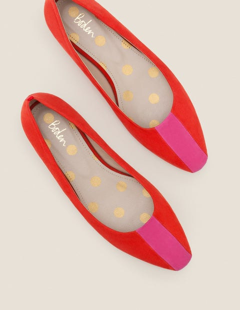Frieda Flats - Post Box Red/Party Pink
