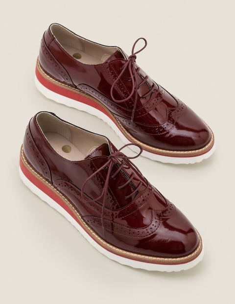 Willa Brogues Mit Plateausohle - Dunkles Rubinrot