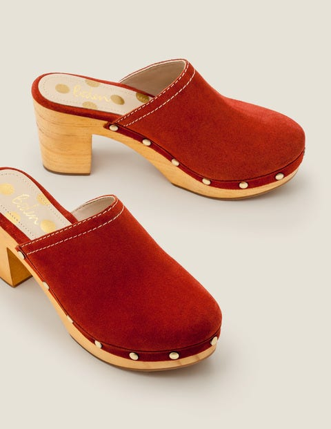 Claudette Clogs - Conker