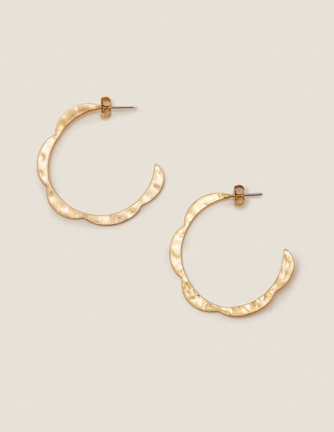 Scallop Hoops - Gold Metallic