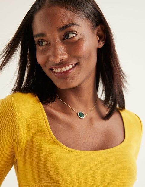 Semi-Precious Necklace - Green Agate