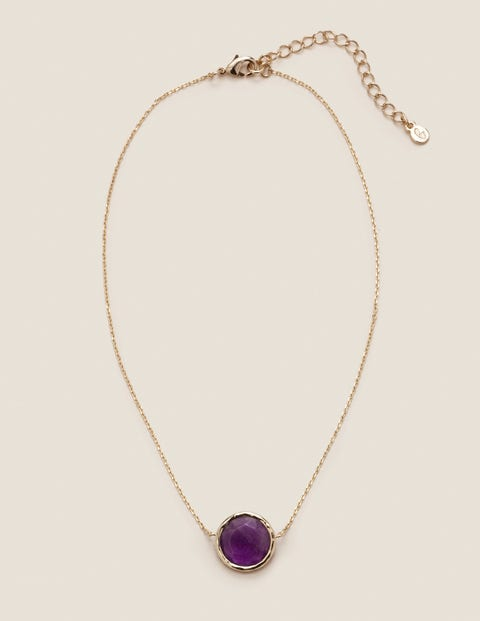 Semi-Precious Necklace - Amethyst