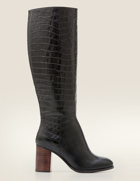Evershot Knee High Boots - Black
