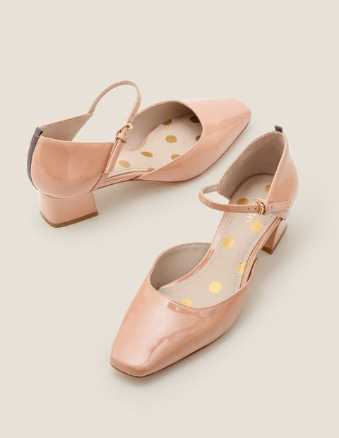1960s Style Dresses, Clothing, Shoes UK Helena Low Heels Natural Women Boden Pink £98.00 AT vintagedancer.com