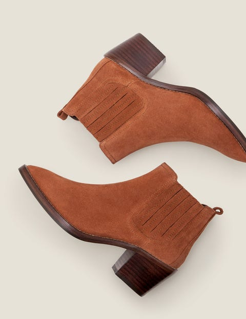 Burwell Ankle Boots - Tan