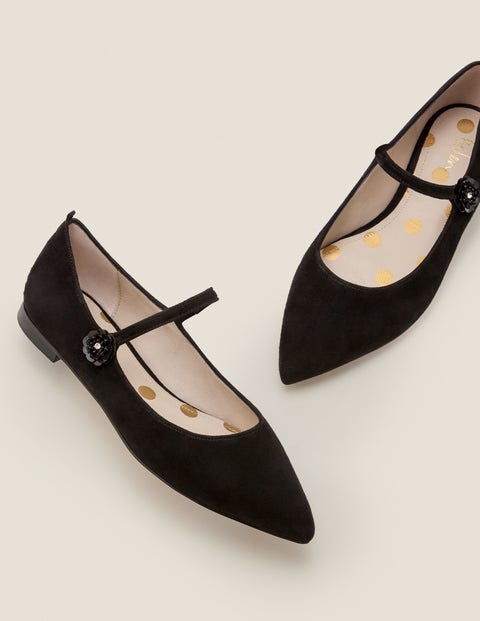 1960s Style Dresses, Clothing, Shoes UK Hallie Embellished Flats Black Women Boden Black £90.00 AT vintagedancer.com