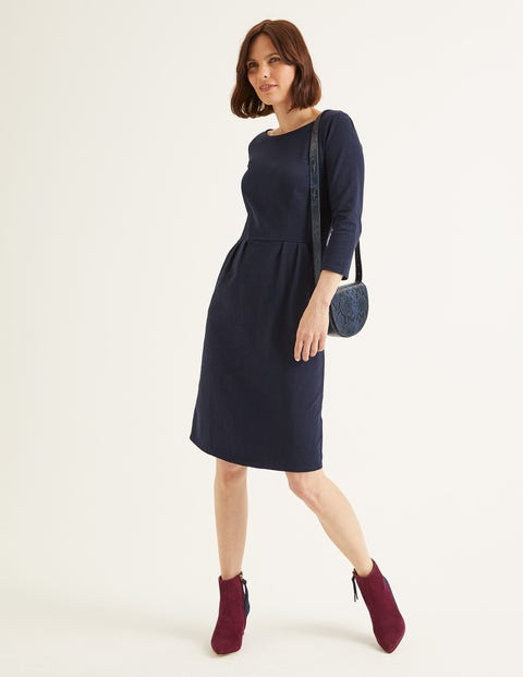 Penny Jersey Dress - Navy