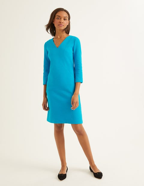 Bronte Ottoman Dress - Blue Lagoon
