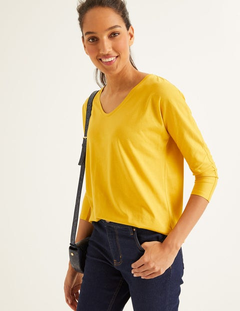 Supersoft Relaxed Voop Tee - Saffron