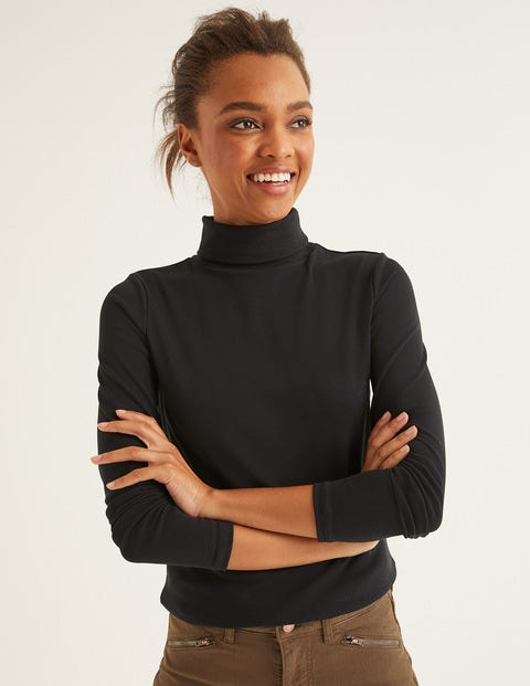 Essential Roll Neck Tee - Black