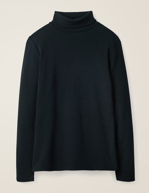 Long Sleeved New Polo Neck Clingy Jumper