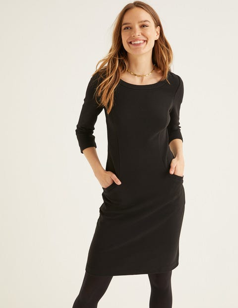 Jasmine Ottoman Dress - Black