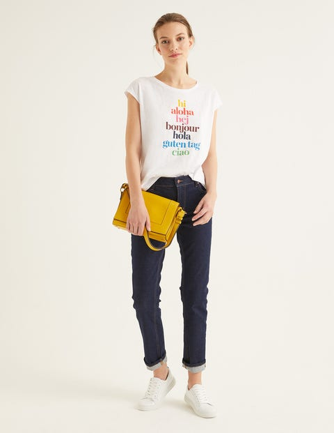 Robyn T-Shirt Aus Jersey - Hi/Bonjour, Bunt