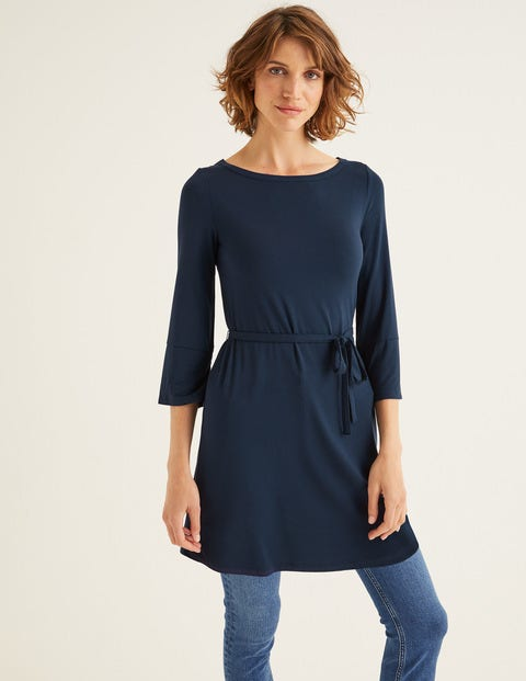 Amy Jersey Tunic - Navy