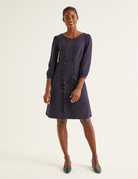 Alexandra Ponte Dress - Navy