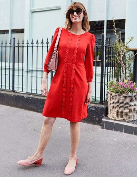 Alexandra Ponte Dress - Post Box Red