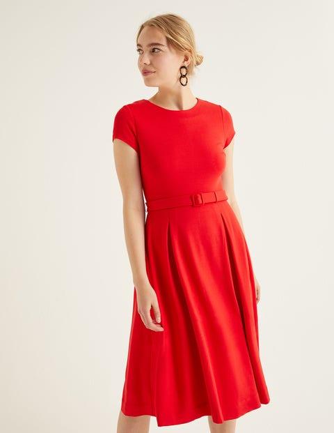 Aida Ponte Dress - Post Box Red
