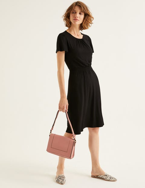 Evangeline Jersey Dress - Black