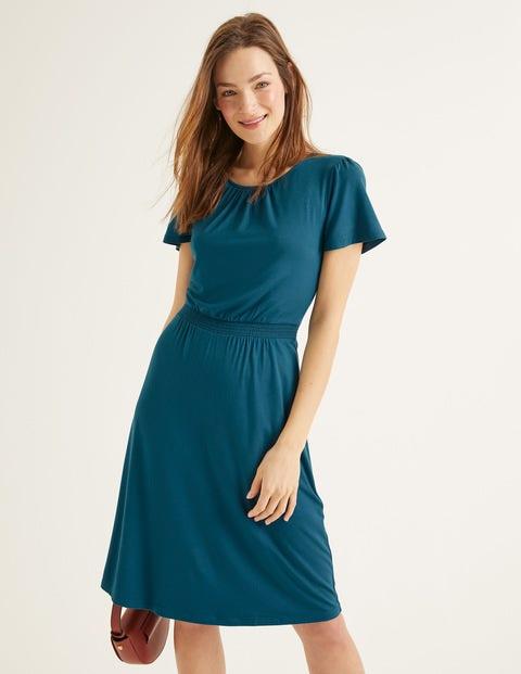 Evangeline Jersey Dress - Baltic