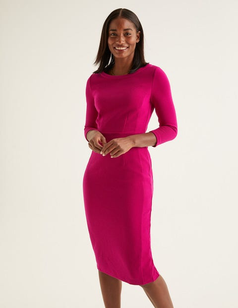 Leah Ottoman Dress - Vibrant Plum
